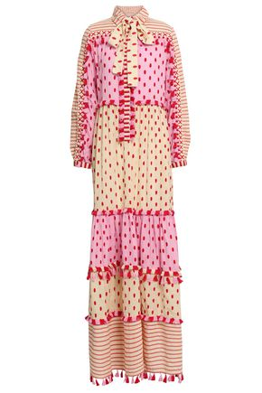 DODO BAR OR Jose tassel-trimmed printed cotton-gauze maxi dress