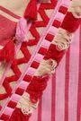 DODO BAR OR Miranda embroidered striped cotton-gauze midi wrap dress
