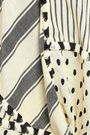 DODO BAR OR Patchwork-effect striped cotton-gauze top