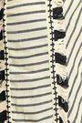 DODO BAR OR Fringe-trimmed striped cotton-gauze shorts