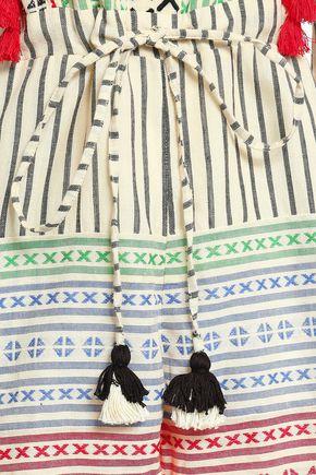 DODO BAR OR Rodrigo embroidered striped cotton-gauze playsuit
