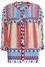 DODO BAR OR Marcus embroidered striped cotton-gauze jacket