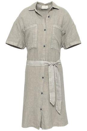 AMERICAN VINTAGE Belted linen shirt dress