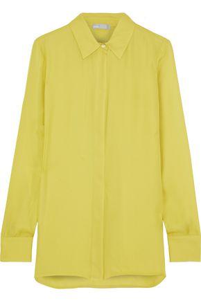 VINCE. Washed-silk shirt