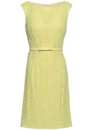 MIKAEL AGHAL Belted broderie anglaise dress