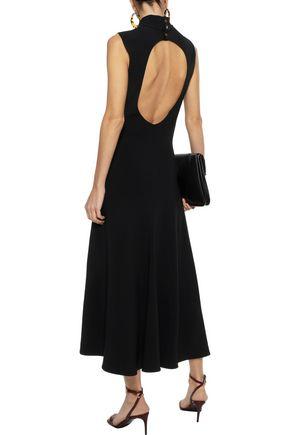 KHAITE Colleen cutout stretch-crepe midi dress