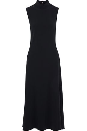 KHAITE Colleen cutout stretch-crepe midi dress