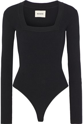 KHAITE Daisy ribbed stretch-wool bodysuit