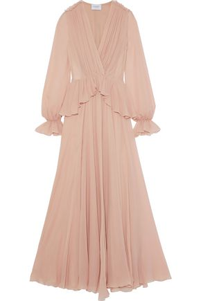 GIAMBATTISTA VALLI Ruffled silk-georgette gown