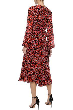 GIAMBATTISTA VALLI Belted floral-print silk-chiffon midi dress