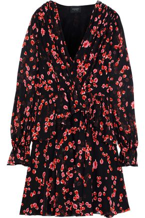 GIAMBATTISTA VALLI Wrap-effect floral-print silk-chiffon peplum mini dress