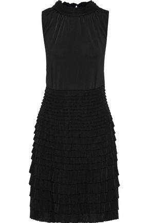 GIAMBATTISTA VALLI Tiered gathered stretch-knit dress