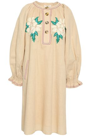 ANTIK BATIK Zahid embroidered cotton-gauze dress