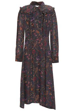 ANTIK BATIK Alina floral-print crepe de chine midi dress