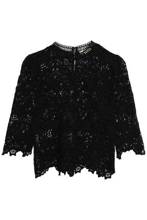 REBECCA TAYLOR Luna lace cotton top
