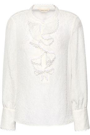 REBECCA TAYLOR Silk-blend cloqué blouse