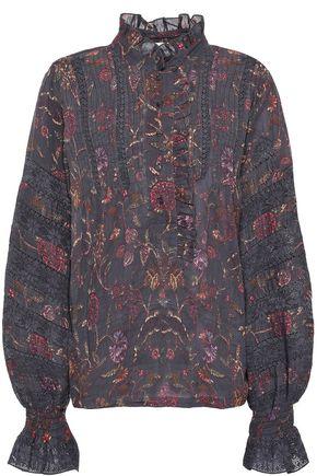 ANTIK BATIK Alina floral-print gauze blouse