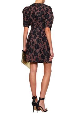REBECCA TAYLOR Brocade mini dress