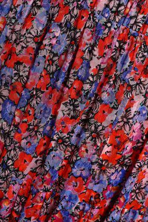 REBECCA TAYLOR Off-the-shoulder silk and cotton-blend midi dress