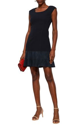 REBECCA TAYLOR Terri jacquard-knit mini dress