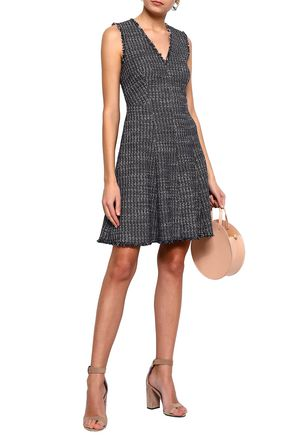 REBECCA TAYLOR Frayed cotton-blend tweed mini dress