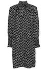 REBECCA TAYLOR Shirred silk-jacquard mini dress