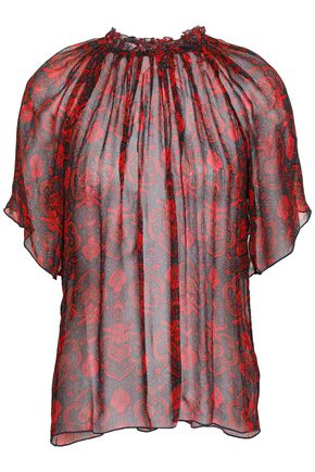 ANTIK BATIK Molly printed silk-georgette blouse