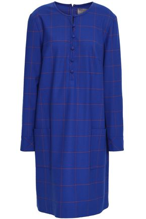 LELA ROSE Checked jacquard dress