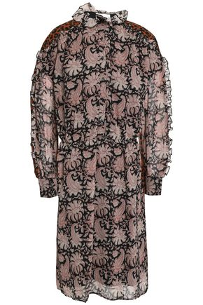 ANTIK BATIK Printed silk mini dress