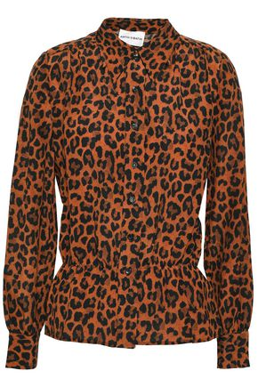 ANTIK BATIK Leopard-print silk blouse