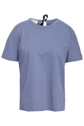 MARNI Tie-back cotton-jersey T-shirt