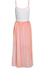 VICTORIA, VICTORIA BECKHAM Pleated silk crepe de chine midi dress