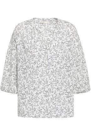 Printed Crepe De Chine Blouse by Joie