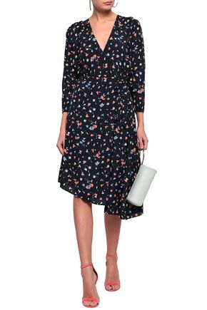 e729973ae8 JOIE Asymmetric printed crepe de chine dress