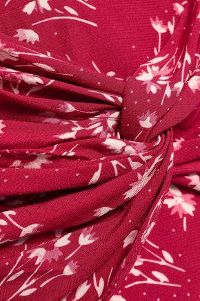 LOVER Floral-print crepe-satin mini dress