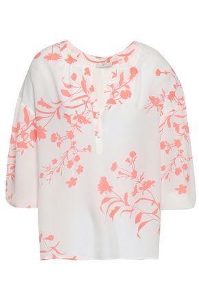 JOIE Floral-print crepe de chine blouse