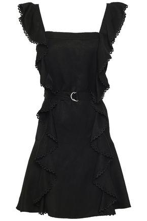 LOVER Ruffled piqué mini dress