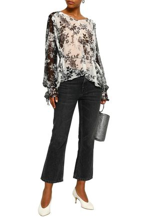 LOVER Printed silk-georgette blouse