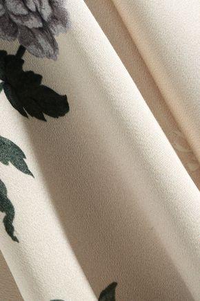 LOVER Floral-print satin mini wrap dress
