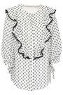 LOVER Ruffled fil coupé blouse
