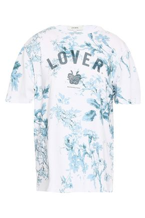 LOVER Printed cotton-jersey T-shirt