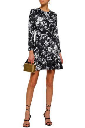 LOVER Floral-print stretch-jersey mini dress