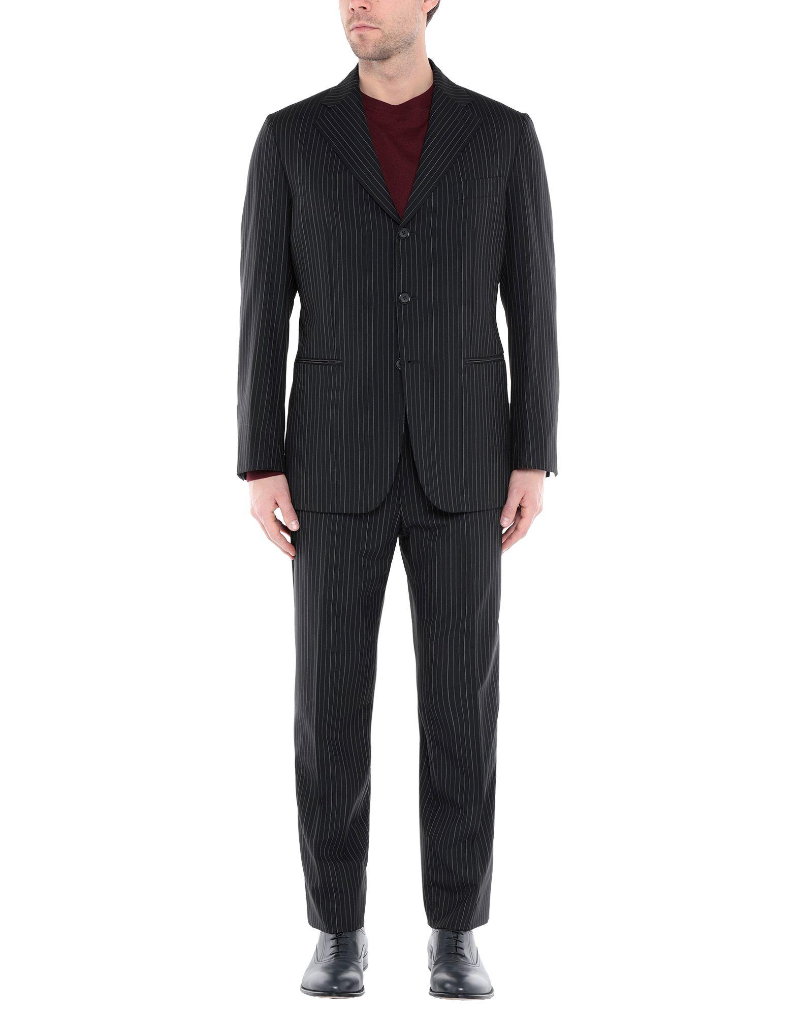 《送料無料》PATOS SARTORIA メンズ スーツ ブラック 52 ウール 100%