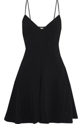 KHAITE Sheryl stretch-crepe mini slip dress