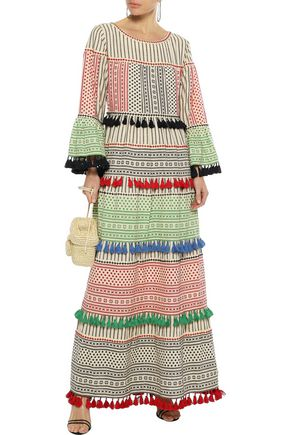 DODO BAR OR Zizi embellished printed cotton-gauze maxi dress