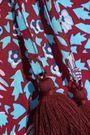 REBECCA MINKOFF Penelope tasseled floral-print crepe blouse