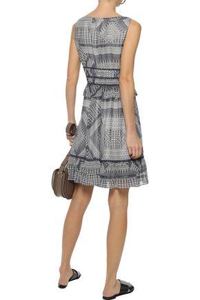 REBECCA MINKOFF Lucille ruffle-trimmed printed georgette mini dress