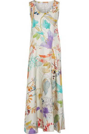 AGNONA Floral-print silk-twill maxi dress