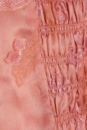 REBECCA TAYLOR Off-the-shoulder fil coupé silk-blend organza blouse