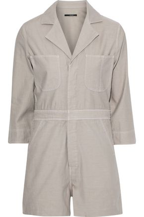 J BRAND Utility cotton-canvas playsuit